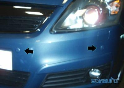 Opel Zafira (sensores aparcamiento)